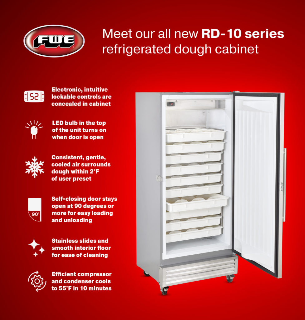 FWE / Food Warming Equipment Company, Inc. • All New Series, RD-10 Refrigerated Dough Retarder Cabinet
