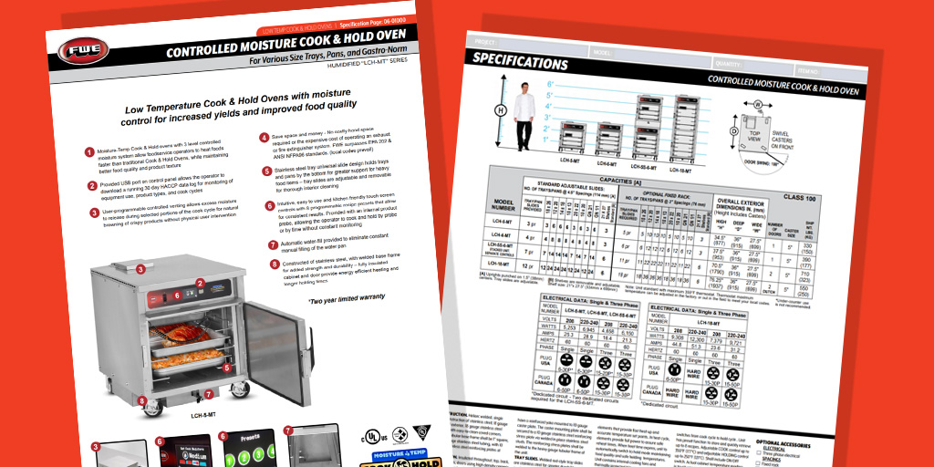 """Humidified """"LCH-MT"""" Series Spec Sheet - ALL NEW!"""