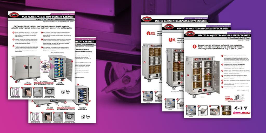 Spec Sheet Update for E, E-XL, E-XXL, ETC, and ETC-1520 Models - Master Casters!